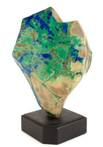 An Azur-Malachite in Matrix Freeform Sculpture