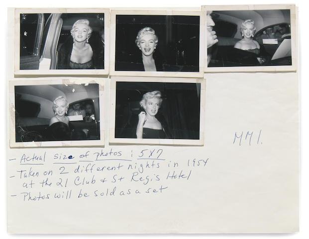 Marilyn Monroe snapshots, 1954