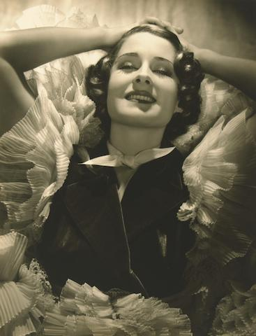 George Hurrell signed portrait of Norma Shearer, 1934