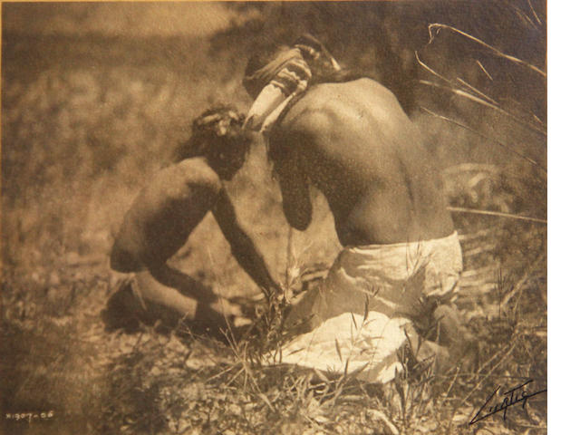 Edward Curtis  3 Images, Three images in one frame; (3)