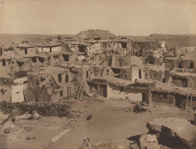 Edward S. Curtis (American, 1868-1952); Mishongnovi (Hopi Middle Mesa Pueblo);