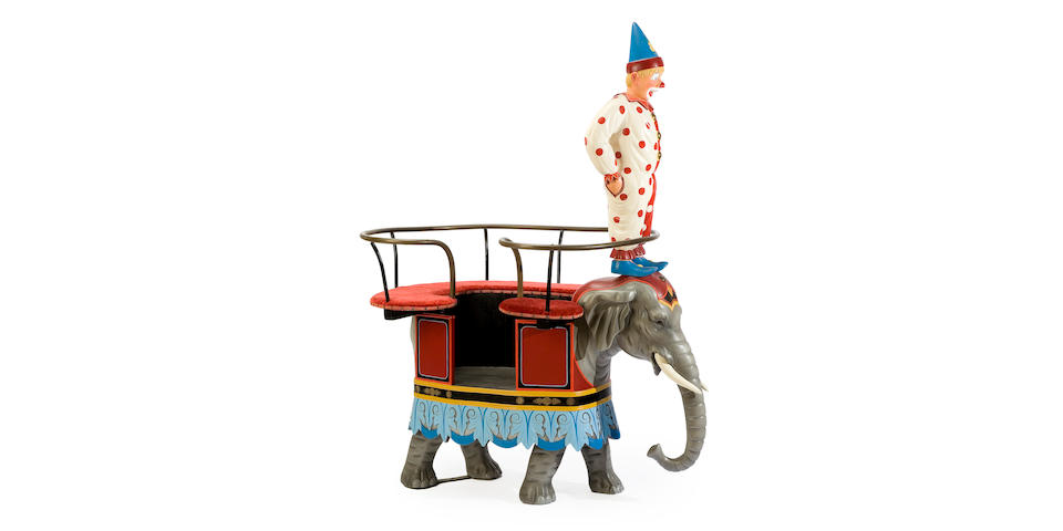 A Fine German carved and painted elephant chariot <BR />Freidrick Heyn<BR />late 19th century