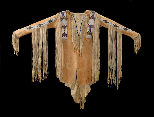 A Ute beaded shirt