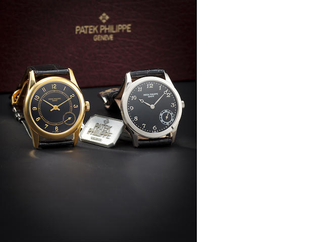 Patek Philippe. A fine 18K gold automatic wristwatch with eccentric secondsRef:5000J, Case no. 2974932, Movement no. 1962034, sold 2001