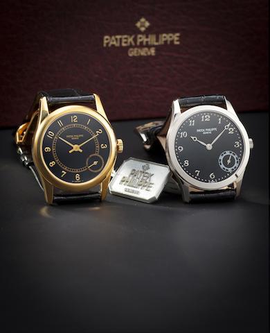 Patek Philippe. A fine 18K gold automatic wristwatch with eccentric secondsRef:5000J, Case no. 2974932, Movement no. 1962034, sold 2001