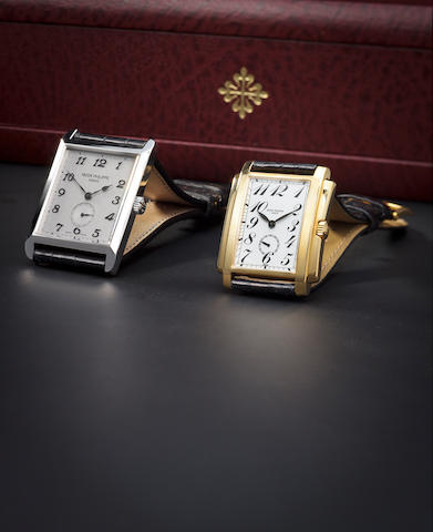 Patek Philippe. A fine 18K white gold rectangular wristwatchGondolo, Ref:5109G, Case no. 4244534, Movement no. 1885484