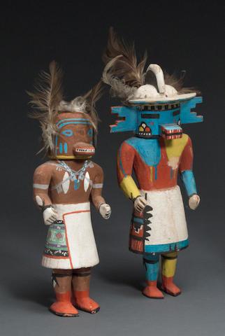 Two Hopi kachina dolls