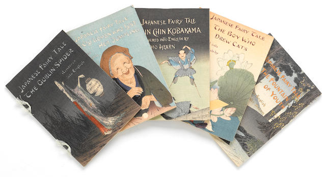 HEARN, LAFCADIO. 1850-1904. [Japanese Fairy Tales.] Japan: T. Hasegawa, [1898-1925].