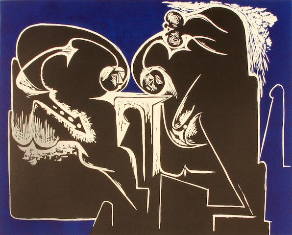Hans Burkhardt, 5 prints (4 flat, 1 rolled)