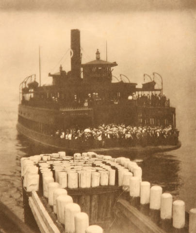 Alfred Stieglitz (American, 1864-1946); The Ferry Boat; The Pool-Deal (from Camera Work); (2)