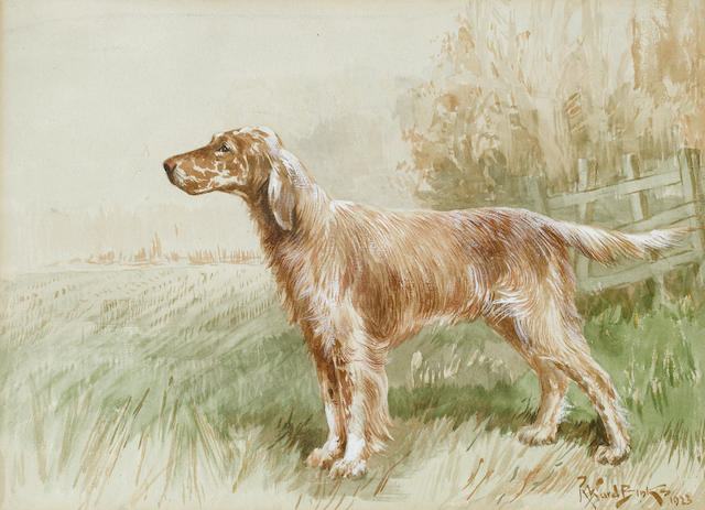 Reuben Ward Binks (British, 1880-1940) English Setter in Field
