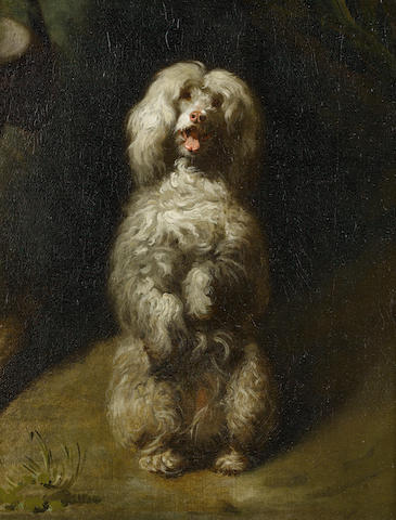 Circle of Henry Bernard Chalon (British, 1770-1849) A Begging Poodle 13 3/4 x 10 3/4 in. (35 x 27.5 cm.)