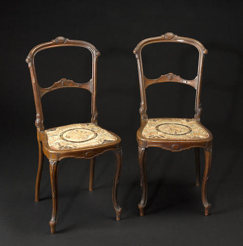 A pair of Micmac chairs