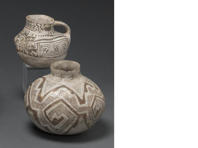 Two Anasazi black-on-white vessels