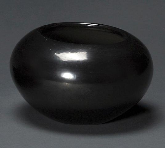 A San Ildefonso blackware jar