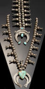 Two Navajo squash blossom necklaces