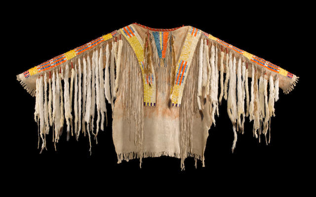 A Sioux quilled war shirt