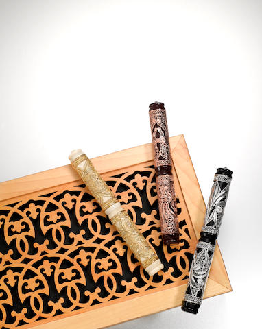 VISCONTI: Taj Mahal Set of 3 Limited Edition Fountain Pens