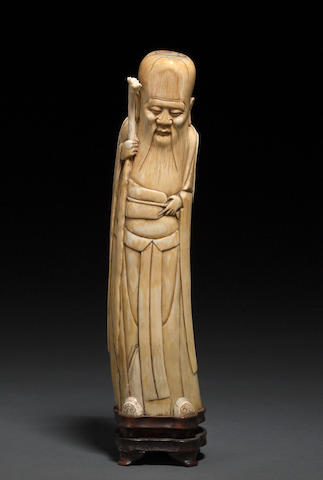 An ivory standing figure of Shoulao Ming dynasty