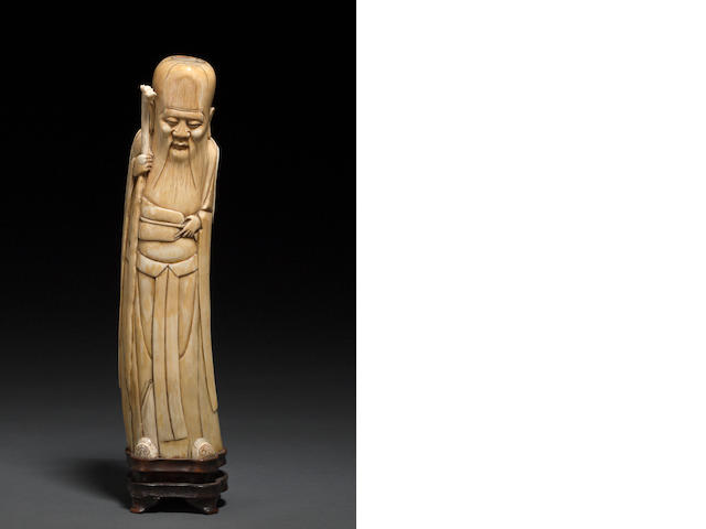 An ivory figure of Shoulao Ming Dynasty
