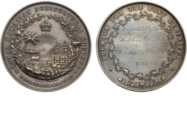 Royal Hawaiian Agricultural Society Medal. Silver.