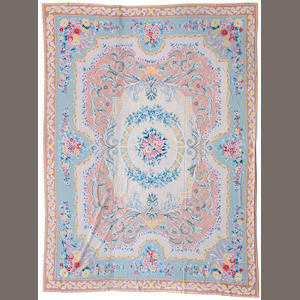 An Aubusson style needlework carpet