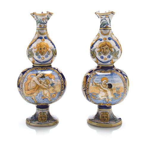 Majolica pair of Jugs