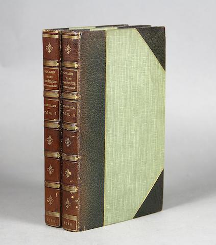 CHASTELLUX, FRANÇOIS JEAN, MARQUIS DE. 1734-1788. Voyages ... dans l'Amerique Septentrionale dans les annees 1780, 1781 & 1782. Paris: Prault, 1786.