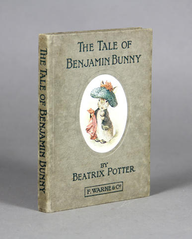 POTTER, BEATRIX. 1866-1943. The Tale of Benjamin Bunny. London: Frederick Warne and Co, 1904.
