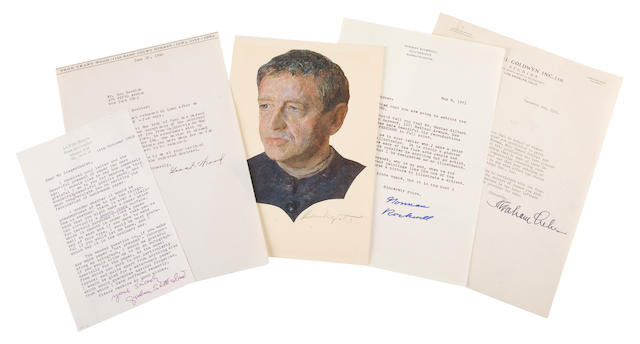 ARTISTS. 5 binders containing approximately 93 manuscript examples of 19th and 20th century artists,