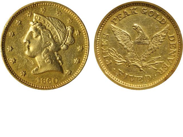 1860 Clark Gruber & Co. $5