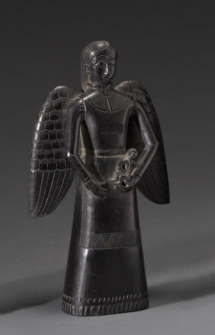 A Haida argillite carving of an angel