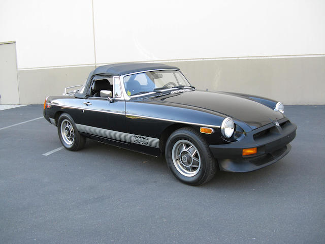 One owner from new, fewer than 26,000 original miles,1980 MGB Roadster Limited Edition  Chassis no. GVVDJ2AG509496