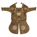 A  set of parade armor with helmet Late Qing Dynasty