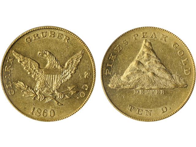 1860 Clark Gruber & Co. $10 MS61 PCGS