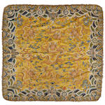An imperial yellow silk nine dragon throne cushion cover