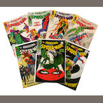 A large collection of Amazing Spider-Man comic books