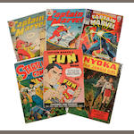 A group of six Golden Age and Pre-Code comic books