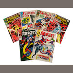 A large group of Marvel comic books