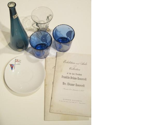 [ROOSEVELT, FRANKLIN DELANO. 1882-1945.] 5 objects belonging to President and Mrs Roosevelt,