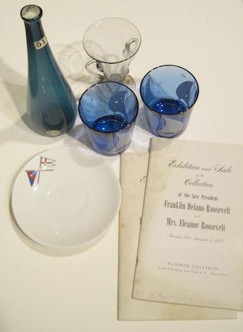 [ROOSEVELT, FRANKLIN DELANO. 1882-1945.] 5 objects belonging to President and Mrs Roosevelt,