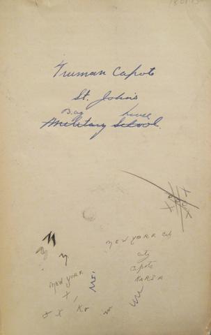 [CAPOTE, TRUMAN. 1924-1984.] RABENORT, WILLIAM. Rabenort's Geography: Asia, Africa, Australia. New York: American Book Company, [1924].