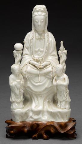 A Dehua seated figure of Guanyin 17th Century