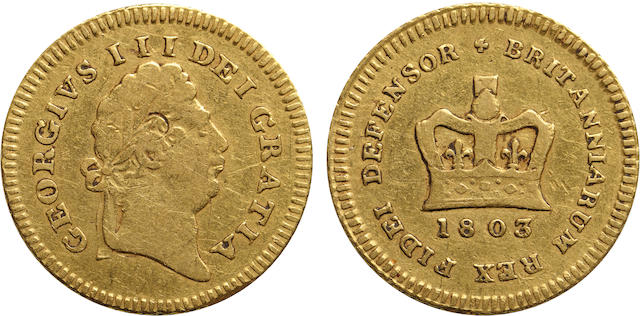 Great Britain, George III, 1/3 Guinea, 1803