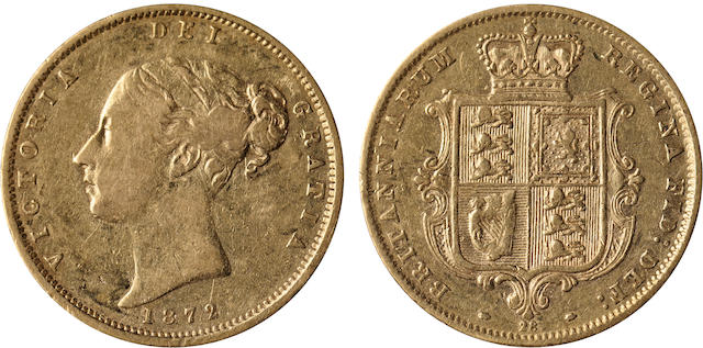 Great Britain, Victoria, 1/2 Sovereign, 1872