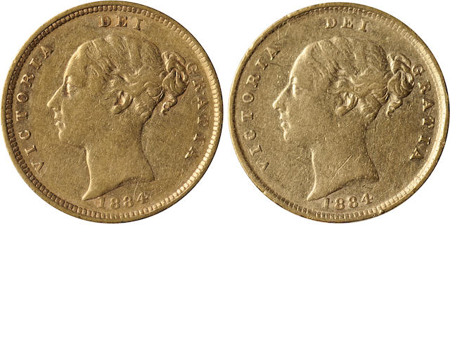 Great Britain, Victoria, 1/2 Sovereign, 1884 (2)