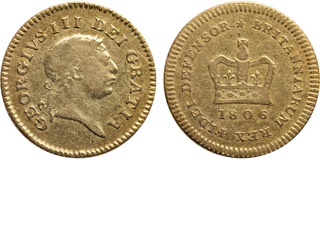 Great Britain, George III, 1/3 Guinea, 1806