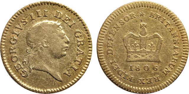 Great Britain, George III, 1/3 Guinea, 1806