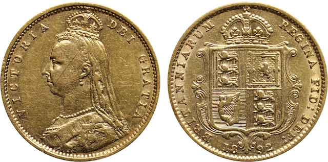 Great Britain, Victoria, 1/2 Sovereign, 1892