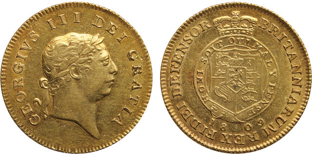 Great Britain, George III, 1/2 Guinea, 1809